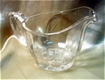 Wheel Cut Design Glass Cream Pitcher