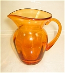 Amber Glass Handblown Pitcher
