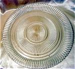 Vintage Ridged Glass Round Serving Plate