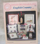 English Country Cross Stitch Leaflet And Supplies