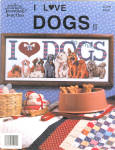 I Love Dogs Counted Cross Stitch Leaflet