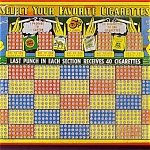 Cigarettes Pin Up Girl Advertise Punch Board Trade Simulator