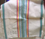 Vintage Linen Stamped For Embroidery Dutch Towel