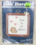 Vintage Dale Burdett Cross Stitch Puppy Kit