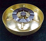 Chase Brass And Bakelite Ships Wheel Roulette Desk Accessory