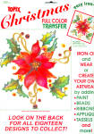 Topix Christmas Poinsettia Full Color Iron On Transfer