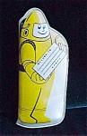 Childs Yellow Astronaut Space Related Eye Glass Case- 1960