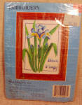 Blue Flag Iris Embroidery Kit