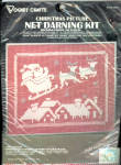 Vogart Net Darning Christmas Santa Claus Picture Kit