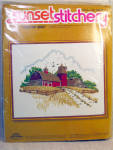 1977 Sunset Stitchery Country Barn Crewel Kit - Mint