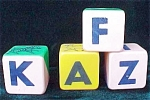 Childrens Toy- Plastic Alphabet Blocks