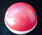 Red White Childs Hard Plastic Weighted Ball Toy With Music