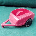 Ideal Red Plastic Toy Trailer