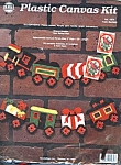 Vintage Plastic Canvas Xmas Train Garland Kit