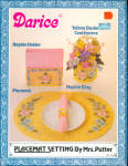 1982 Darice Yellow Placemat Settings In Plastic Canvas