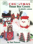 Plastic Canvas Christmas Tissue Box Covers, Sue Penrod