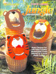 Plastic Canvas Jungle Wastebasket Covers