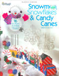 2008 Snowmen, Snowflakes, Candy Canes In Plastic Canvas