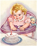 Baby's 1st Birthday Print Salesman Sample Calendar Top