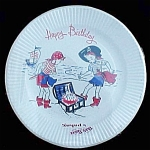 Vintage Happy Birthday Pirate Paper Plates