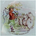 Tom The Pipers Son Childrens Nursery Character Plate