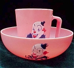 Childs Clown Pink Cereal Bowl Cup - F F Mold And Die