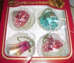 4 Old Christmas Tree Ornaments
