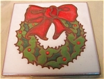 Lovely Glazed Christmas Wreath Tile