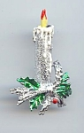 Gerry's Christmas Candle Brooch
