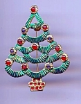 Fun Green Christmas Tree Pin