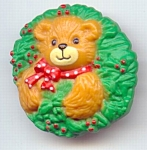 1992 Enesco Lucy Riggs Bear Christmas Pin