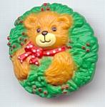 1992 Enesco Lucy Riggs Bear Christmas Pin