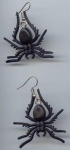 Big Rubbery Spider Pierced Earrings