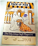 1958 Pack-o-fun Halloween Scrap Craft Magazine