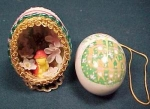 Set Of 2 Decorated Easter Eggs