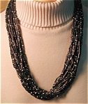Multi Strand Bamboo And Bead Necklace