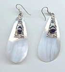 Ethnic Look Mother Of Pearl Pierced Earrings