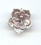 Hill Tribe Silver Flower Pendant