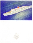 Cunard White Star Lines Queen Mary Menu- 1949