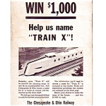 1948 Chesapeake And Ohio Railway Train X Contest