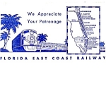 Florida East Coast Railway Appreciation Ticket Folder