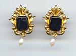 Vintage Avon Renaissance Look Pierced Earrings