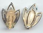 Sarah Coventry Open Leaf Design Clip Earrings
