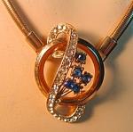 Coro Retro Modern Rhinestone Necklace
