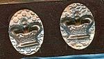 Hammered Copper Crown Design Screwback Earrings