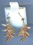 Vintage Pink Rhinestone Fuchsia Pierced Earrings