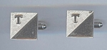 Initial T Silvery Cuff Links