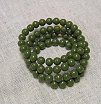Olive Green Wrap Around Beaded Bracelet