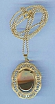 Vintage Montana Agate Pendant And Chain