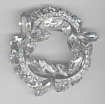 Fiery White Rhinestone Brooch - Unsigned Weiss ?